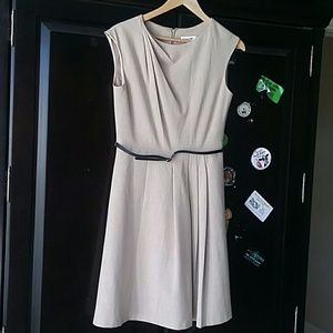 Beautiful fully lined /belted Calvin Klein dress